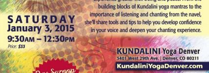 Mantra Workshop and Music Concert in Denver : January 3, 2015