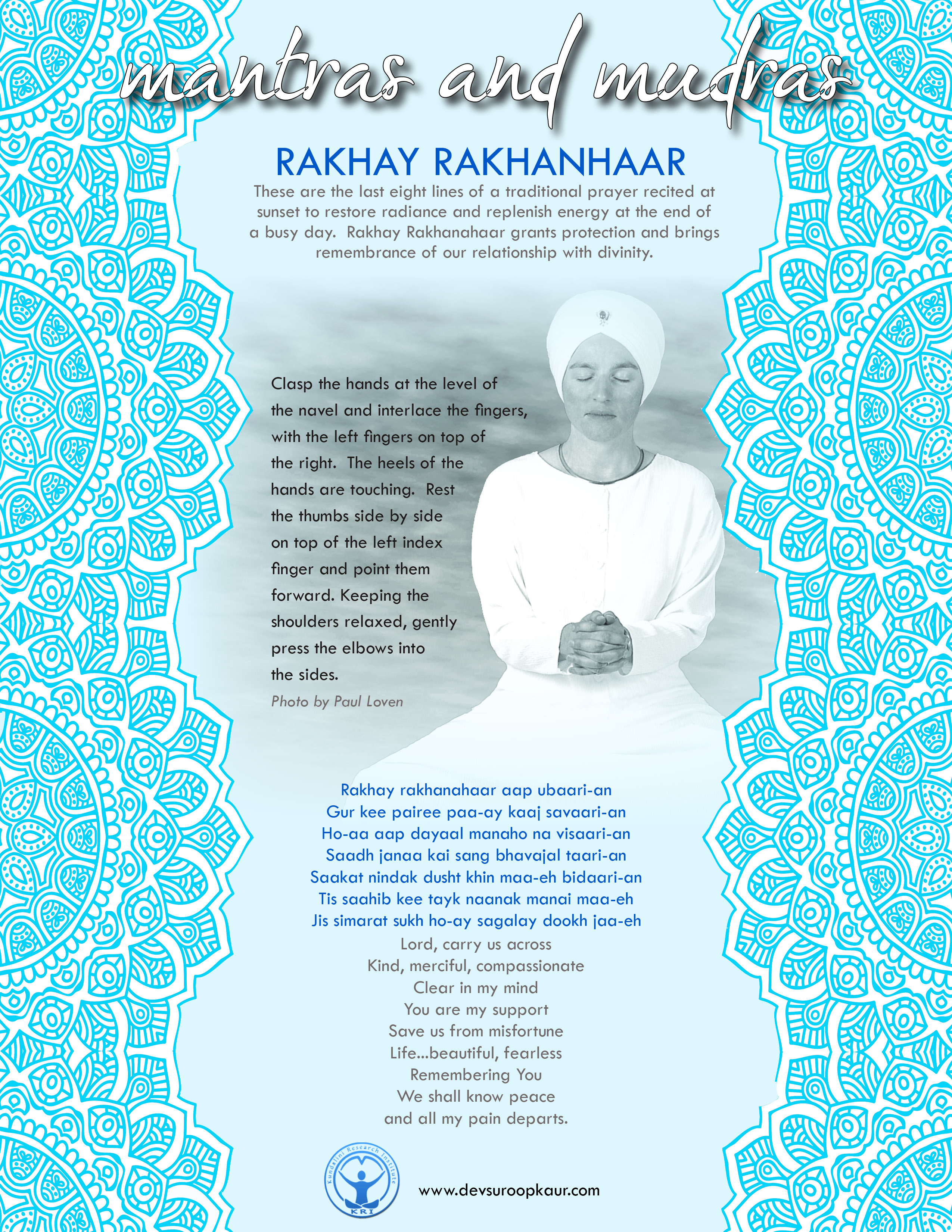 Mantras and Mudras : A Series of Meditations developed with Yogi Bhajan