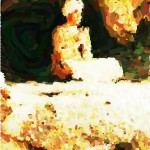 Yogi in the Cave_Pointillism_2
